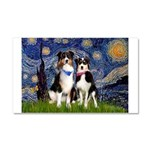 Starry - Twp Aussies (scarvs) Car Magnet 20 x 12