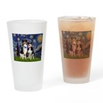Starry - Twp Aussies (scarvs) Drinking Glass