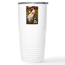 Windflowers-AussieShep (L) Travel Mug