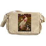 Windflowers-AussieShep (L) Messenger Bag