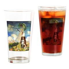 Umbrella-Aussie Shep Drinking Glass