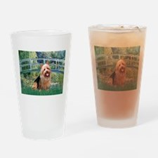 Bridge-AussieTerrier Drinking Glass