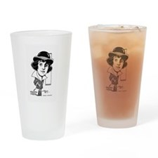 Mabel Normand 1917 caricature Drinking Glass