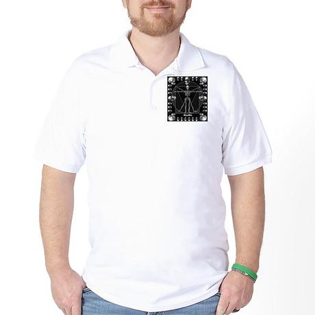 Leonardo da skull Golf Shirt