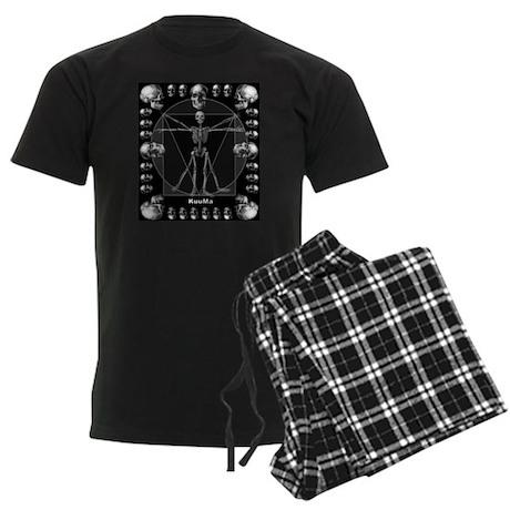 Leonardo da skull Men's Dark Pajamas