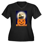 Trick or Treat Halloween Women's Plus Size V-Neck