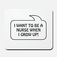 Nurse Bubble 1 Mousepad