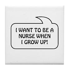 Nurse Bubble 1 Tile Coaster