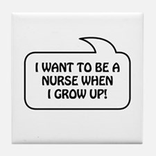 Nurse Bubble 1 Tile Coaster