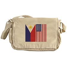 Philippine Flag & US Flag Messenger Bag