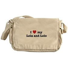 I Love my Lola and Lolo Messenger Bag