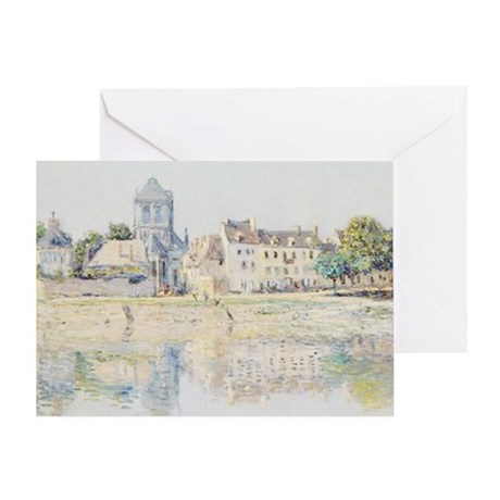 BY THE RIVER AT VERNON Greeting Card