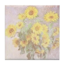 BOUQUET OF SUNFLOWERS Tile Coaster