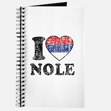 I Heart Nole Grunge Journal