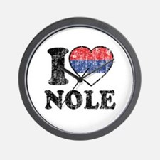 I Heart Nole Grunge Wall Clock