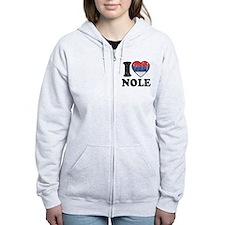 I Heart Nole Grunge Zipped Hoodie