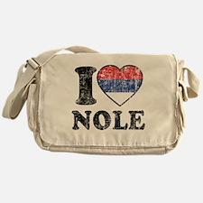 I Heart Nole Grunge Messenger Bag