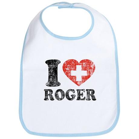 I Heart Roger Grunge Bib