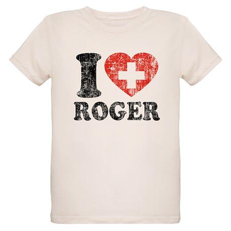 I Heart Roger Grunge Organic Kids T-Shirt