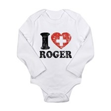 I Heart Roger Grunge Long Sleeve Infant Bodysuit