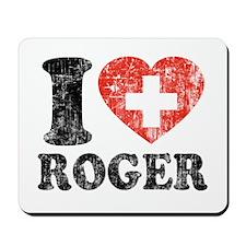 I Heart Roger Grunge Mousepad