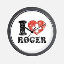 I Heart Roger Grunge Wall Clock