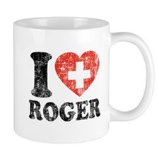 I Heart Roger Grunge Small Mug