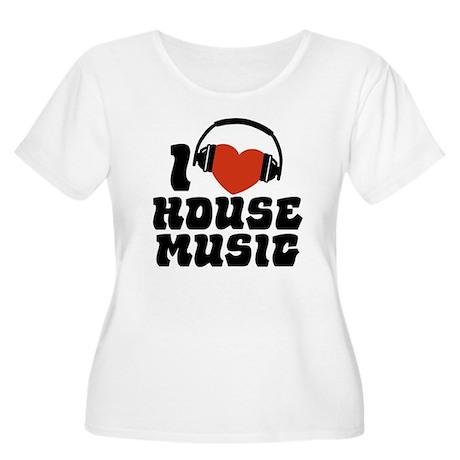 I Love House Music Women's Plus Size Scoop Neck T-