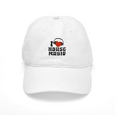 I Love House Music Baseball Cap