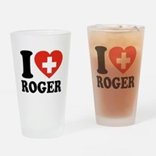 Love Roger Drinking Glass