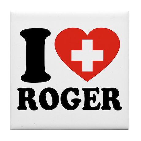 Love Roger Tile Coaster