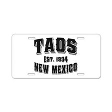 Taos Old Style Black Aluminum License Plate