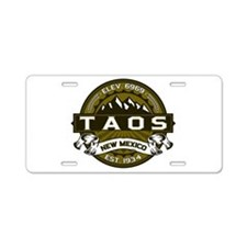Taos Olive Aluminum License Plate
