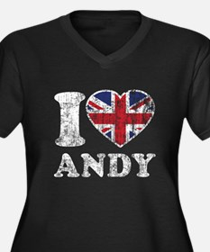 I Heart Andy Grunge Women's Plus Size V-Neck Dark