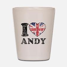 I Heart Andy Grunge Shot Glass