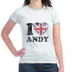 I Heart Andy Grunge Jr. Ringer T-Shirt