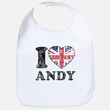 I Heart Andy Grunge Bib