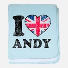 I Heart Andy Grunge baby blanket