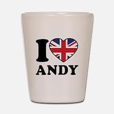 Love Andy Shot Glass