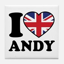 Love Andy Tile Coaster