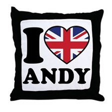 Love Andy Throw Pillow