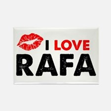 Rafa Lips Rectangle Magnet