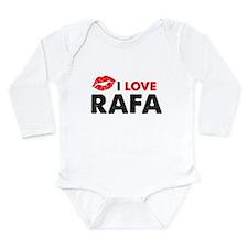 Rafa Lips Long Sleeve Infant Bodysuit