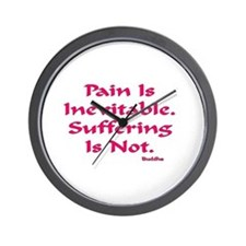 Pain Is Inevitable Gifts Wall Clock