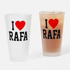 I Love Rafa Drinking Glass