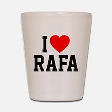 I Love Rafa Shot Glass