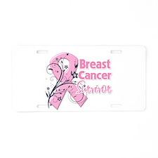 Breast Cancer Survivor Aluminum License Plate
