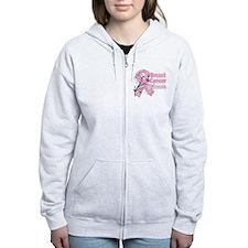 Breast Cancer Warrior Zip Hoodie
