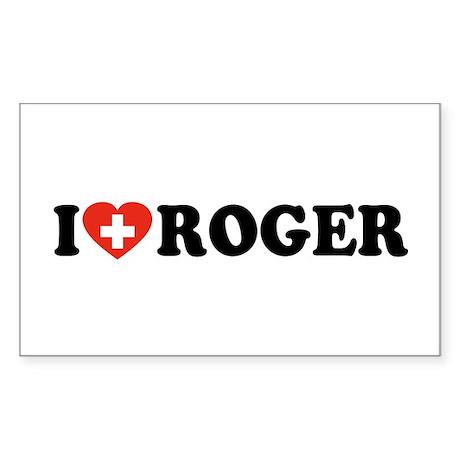 Love Roger Sticker (Rectangle)