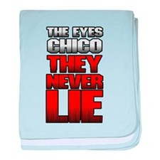 The Eyes Never Lie baby blanket